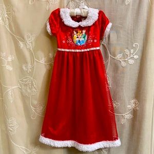 Disney Princess Christmas  nightgown size 3T